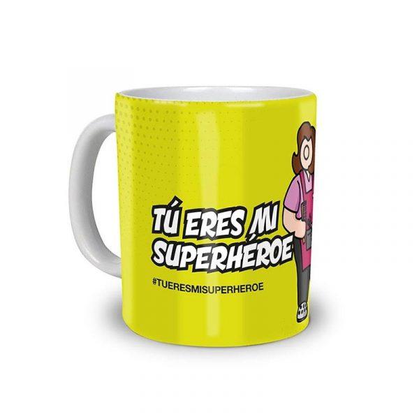 "Taza Peluquer@ ""Tu eres mi Superhéroe"""