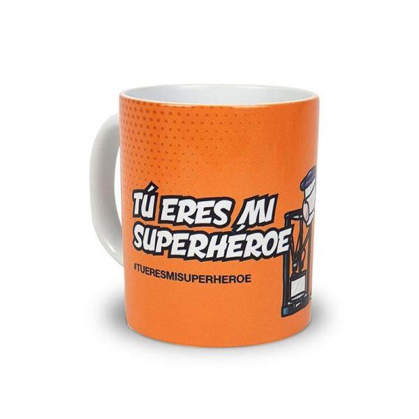 """Taza Repartidor@ """"Tu eres mi Superhéroe"""""""
