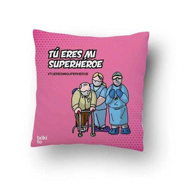 "Cojín Cuidador@s & Médic@s ""Tu eres mi Superhéroe"""